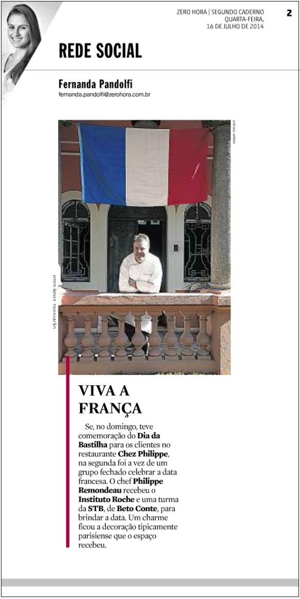 França - Segunda Caderno ZH - 16.07.2014