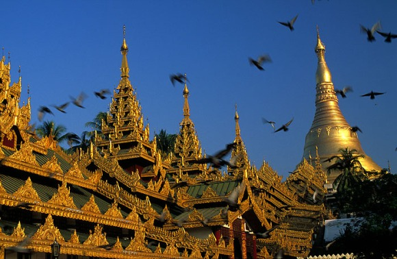My002 - Shwedagon Paya (templo mais importante de Myanmar), Yangon